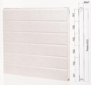 "Панел ""MONOWALL"" гладък Бял / 610 мм. Х 4100 мм. Х 40мм."