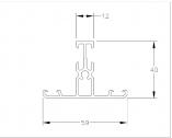 Делител за алуминиеви профили, за панел 40мм. х 500мм.