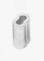 Скоби алуминиеви, овални, за лифтово въже 4мм.
