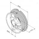 """Ролки за лифтово въже, NL (normal lift), H=2440мм., за тръба 1"""", max. 240кг."""